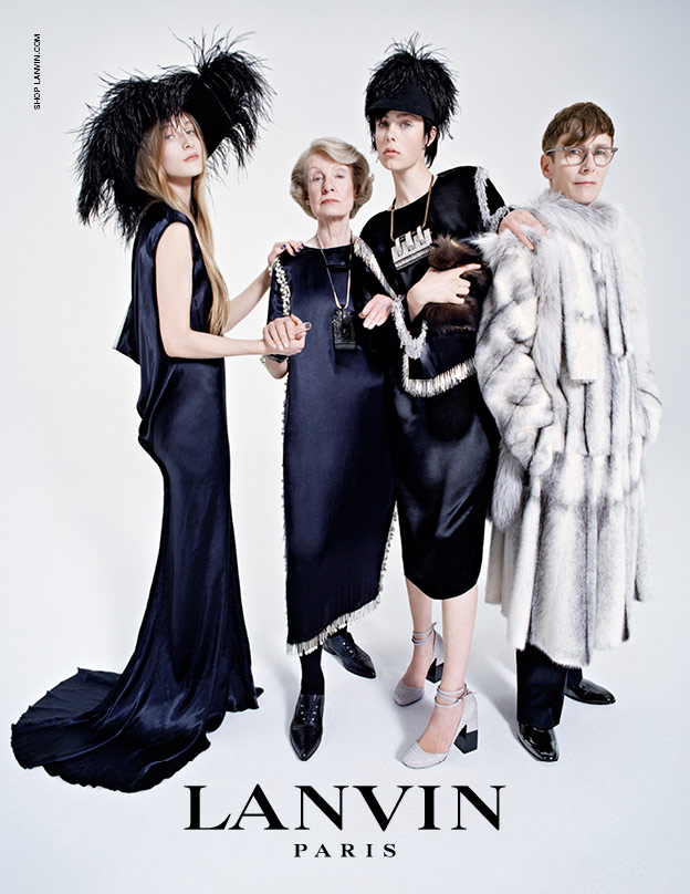 Lanvin campaign with Edie Campbell a family affair