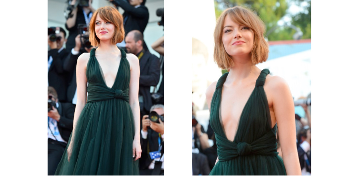 Emma Stone Shows Off New Haircut at Venice Film Festival 2014