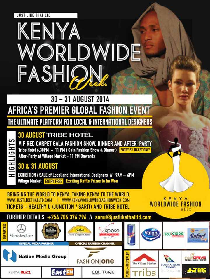 It's here! Your first look at Kenya Worldwide Fashion Week 2014