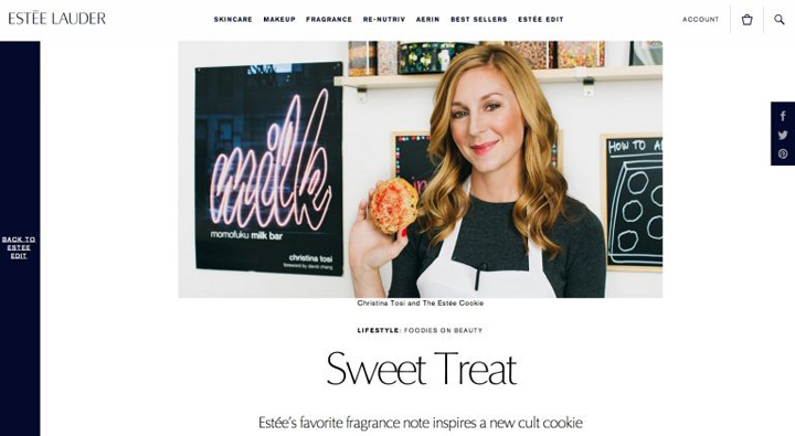 Estee Lauder taps baker Christina Tosi to create perfume-inspired treat