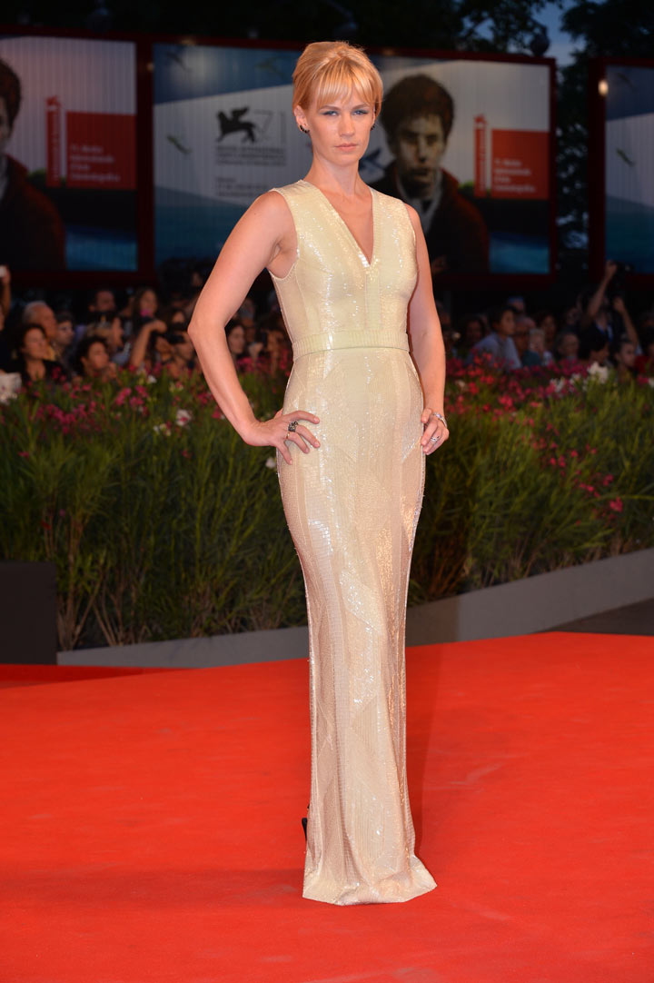 January Jones Wears Hugo Boss at Venice Film Festival