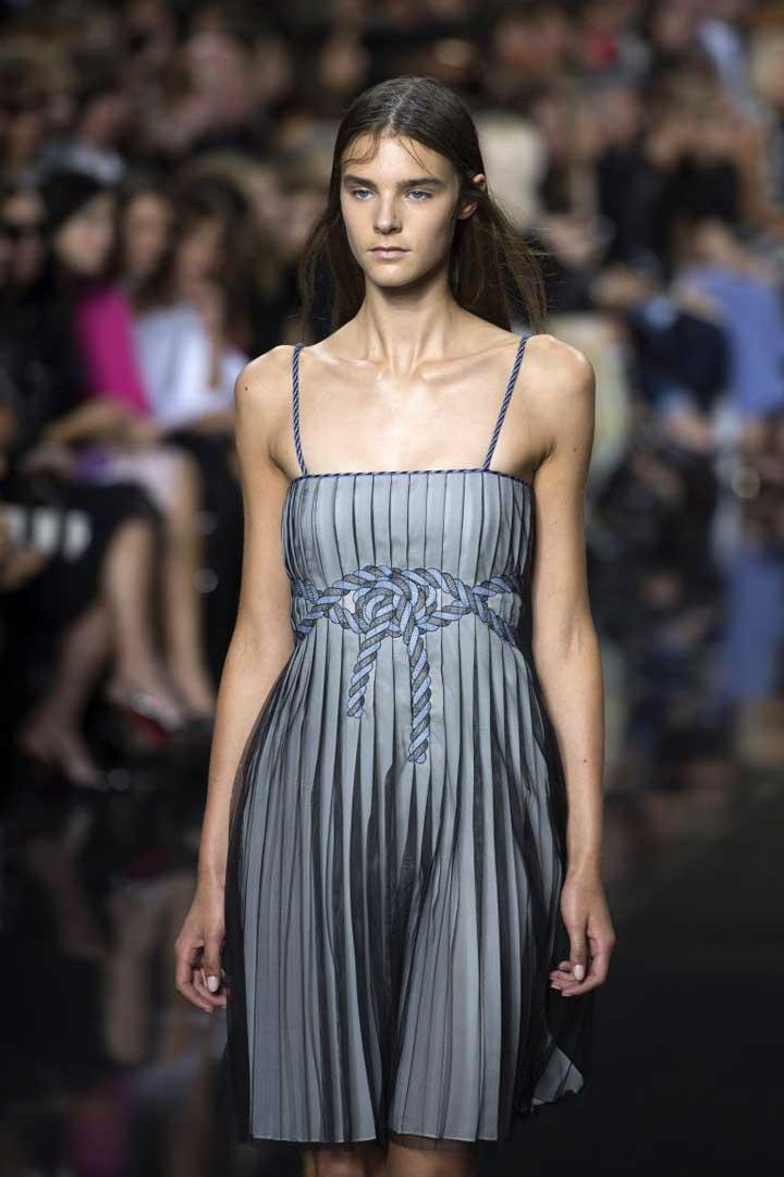 LFW trends: folds, sheer fabrics, fresh florals