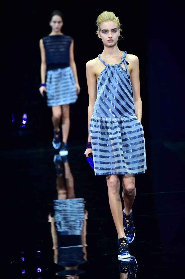 MFW: nautical chic at Emporio Armani