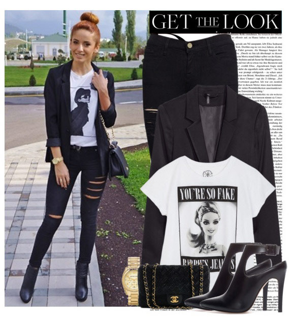 Top trend: ripped black skinny jeans