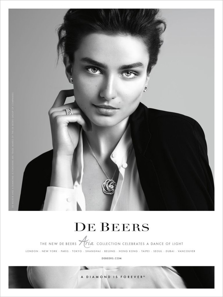 Andreea Diaconu stars in new De Beers campaign