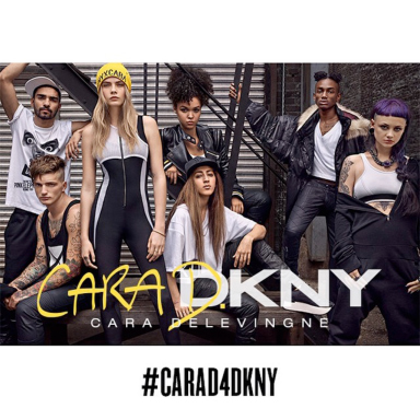 Cara Delevingne Designs Capsule Collection for DKNY