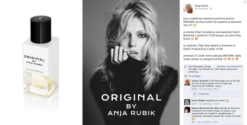 Anja Rubik launching her own fragrance