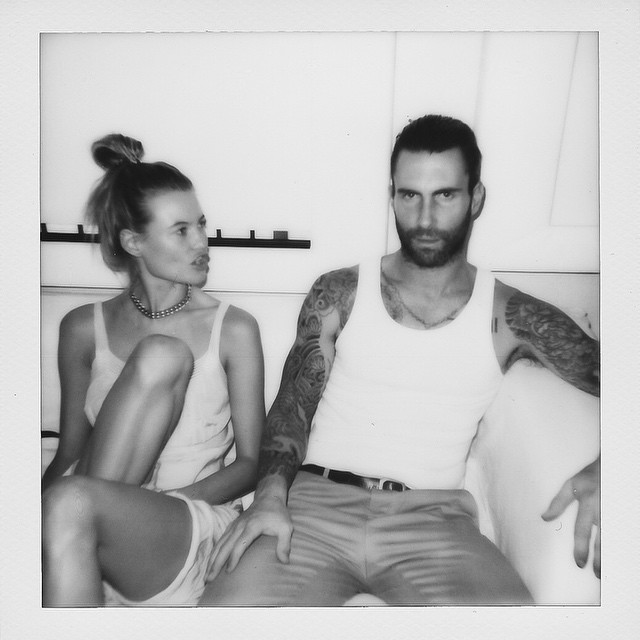 Behati Prinsloo and Adam Levine's New Year's Resolution