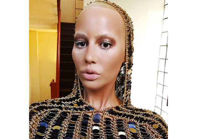 Amber Rose Goes Commando at NYFW