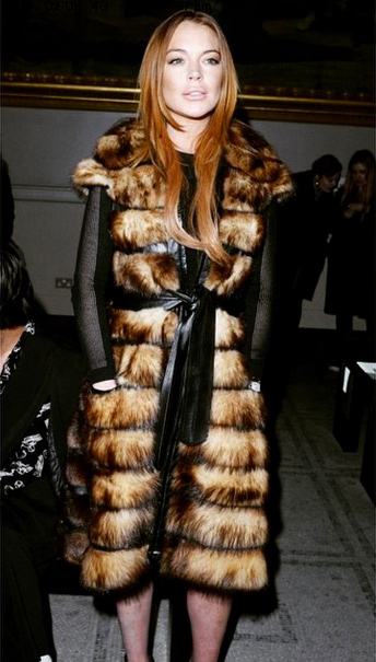 Lindsay Lohan Steals the Show at Gareth Pugh's Runway Show