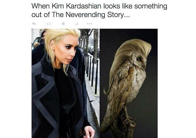 030615memekim2 10 hilarious memes making fun of kim kardashian's blonde hair