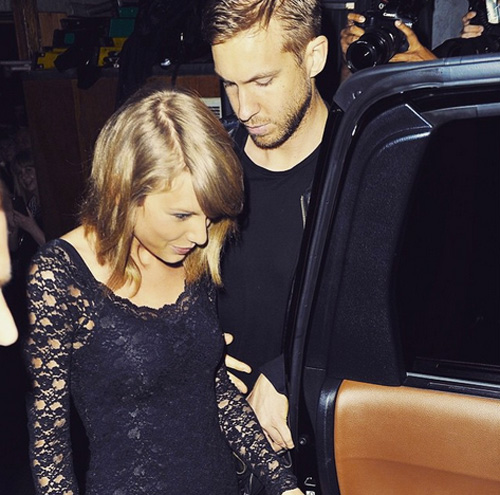 Calvin Harris Inside of Taylor Swift's…House!