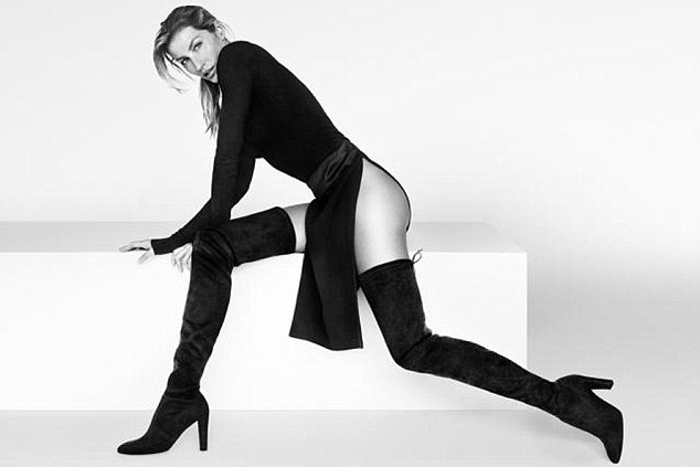 Giselle Bundchen Goes Pantless for Stuart Weitzman