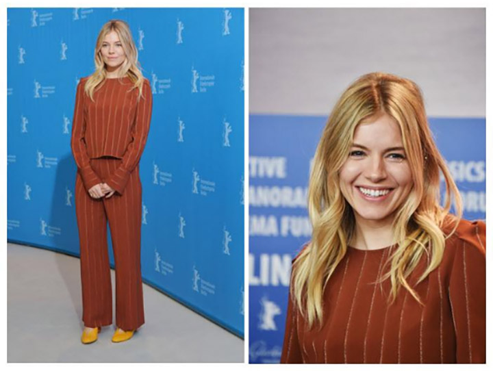 SIENNA MILLER Wears Chloé to the 67th Berlinale International Film Festival
