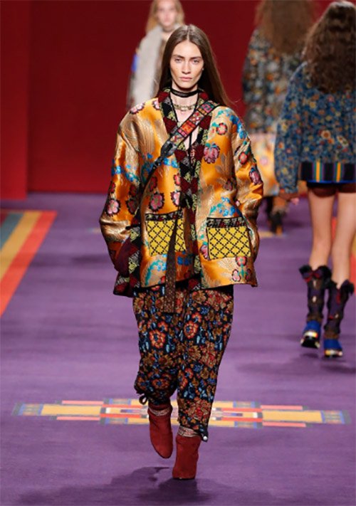 ETRO WOMEN'S WEAR COLLECTION AUTUMN WINTER 2017/18: ETRO Paisley Tribe