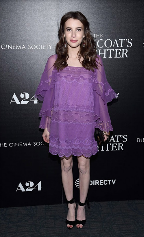 Emma Roberts Wears Chloé to the premiere of 'the Blackcoat's daughter'