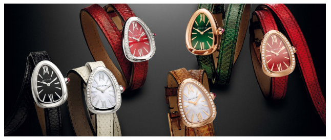 THE NEW SERPENTI: TWIST YOUR TIME! DRESSED WITH KARUNG AND CUSTOMISABLE WITHOUT LIMITS.  THE NEW WAY OF WEARING SERPENTI.