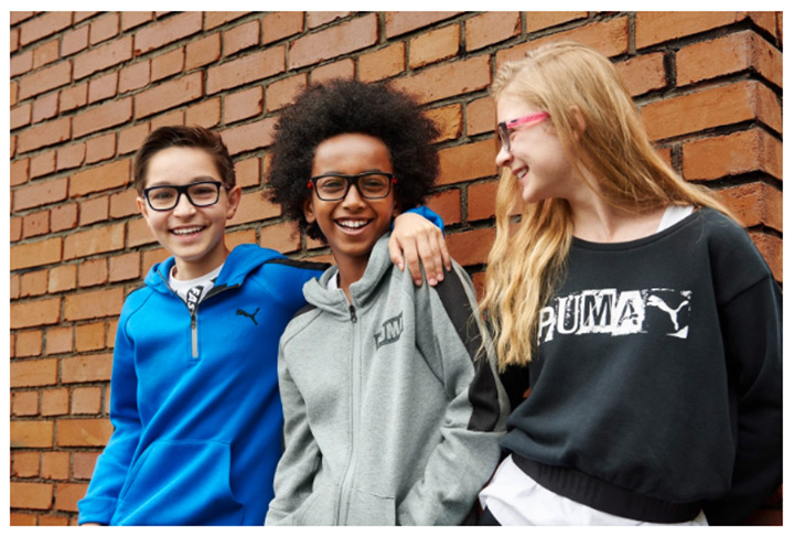 Puma Junior eyewear collection for the Spring/Summer 2017