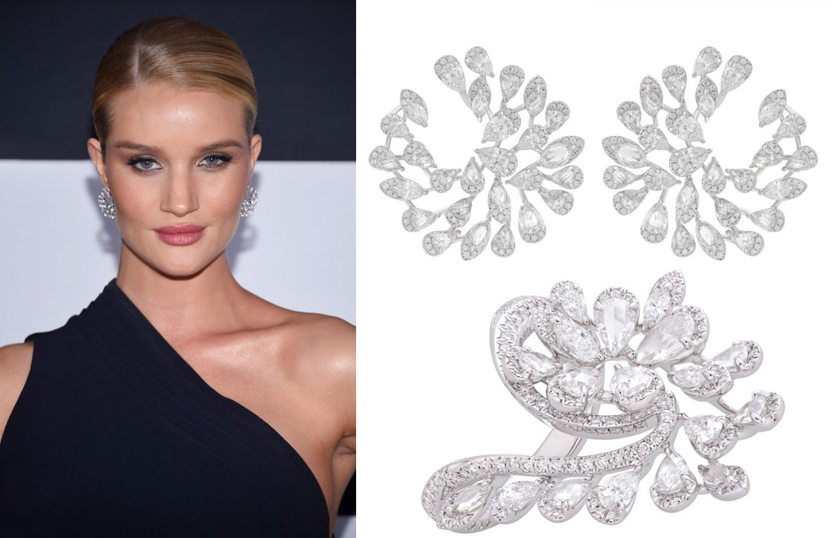 ROSIE HUNTINGTON-WHITELEY WEARS NIRAV MODI JEWELS at The Fast & Furious 8 Premiere