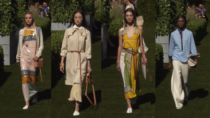Vibrant Colors and Prints Rule the Tory Burch 2018 Spring/Summer Runway