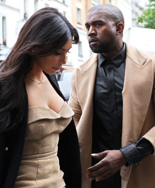 Kim Kardashian in Fur Again! And Kanye Matches