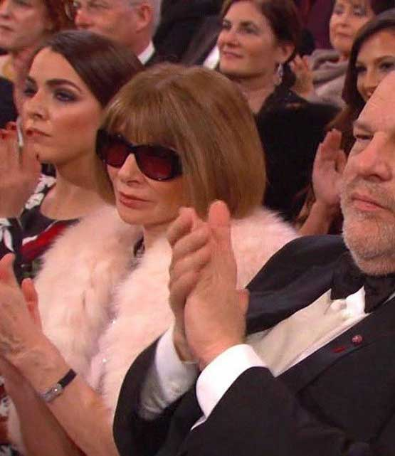 Anna Wintour Looks Lost without Signature Sunglasses