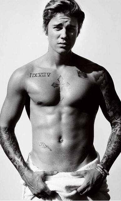 Justin Bieber Latest to Pose for Mario Testino's Towel Series