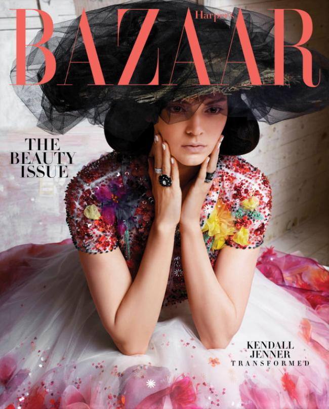 Kendall Jenner Covers Harper's Bazaar in Chanel Couture