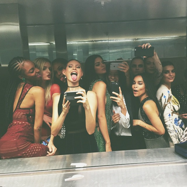 Kendall Jenner, Cara Delevingne, and More Protest Selfie Ban at the Met