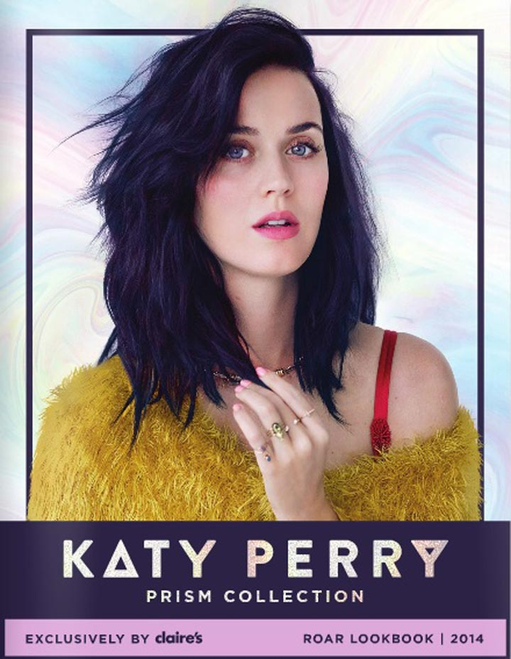 Katy Perry unveils looks from new collection for Claire's