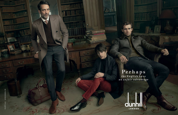 Dunhill calls upon famous names for Fall/Winter 2014 campaign