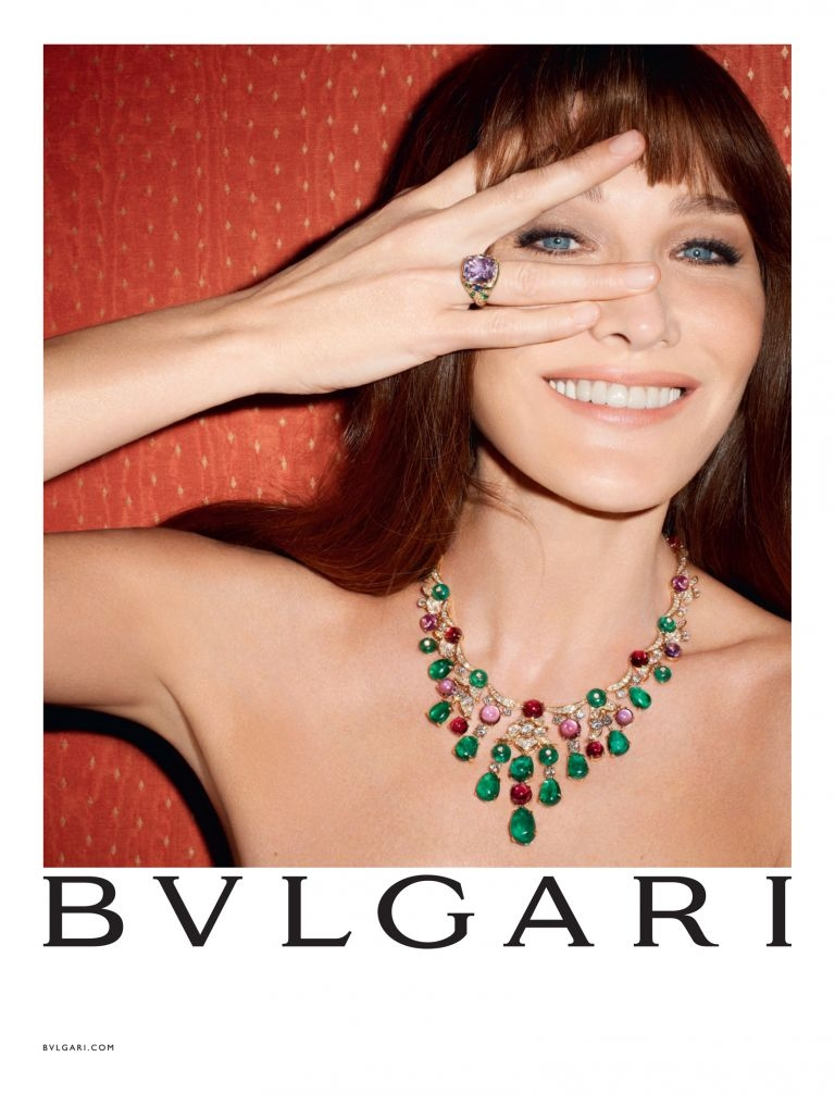 Carla Bruni-Sarkozy for Bulgari