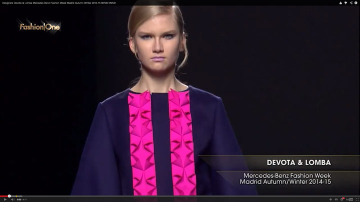Devota & Lomba Mercedes Benz Fashion Week Madrid Autumn Winter 2014-15