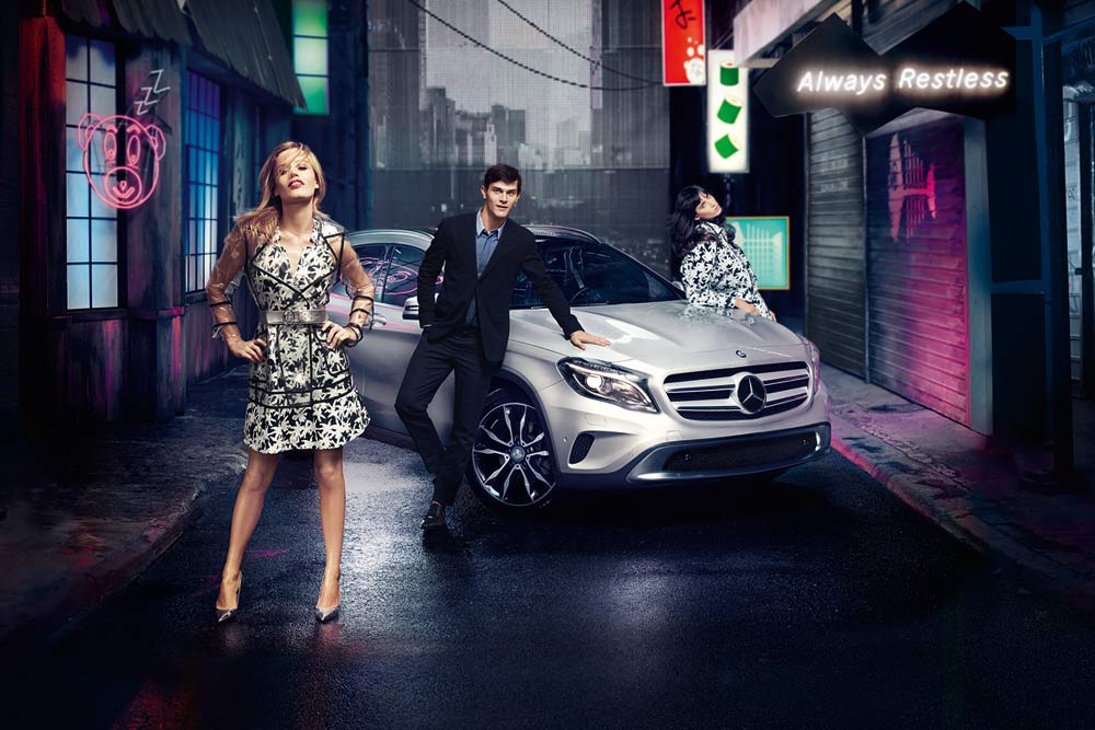 Georgia May Jagger is the new face of the Mercedes-Benz GLA
