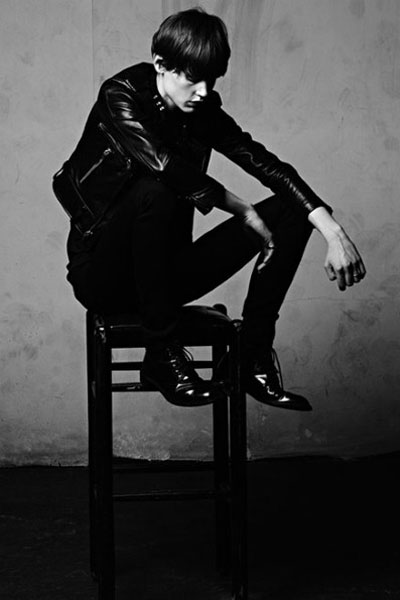 Fashion One Spotlights Saskia de Brauw shot by Hedi Slimane for Saint Laurent menswear ads