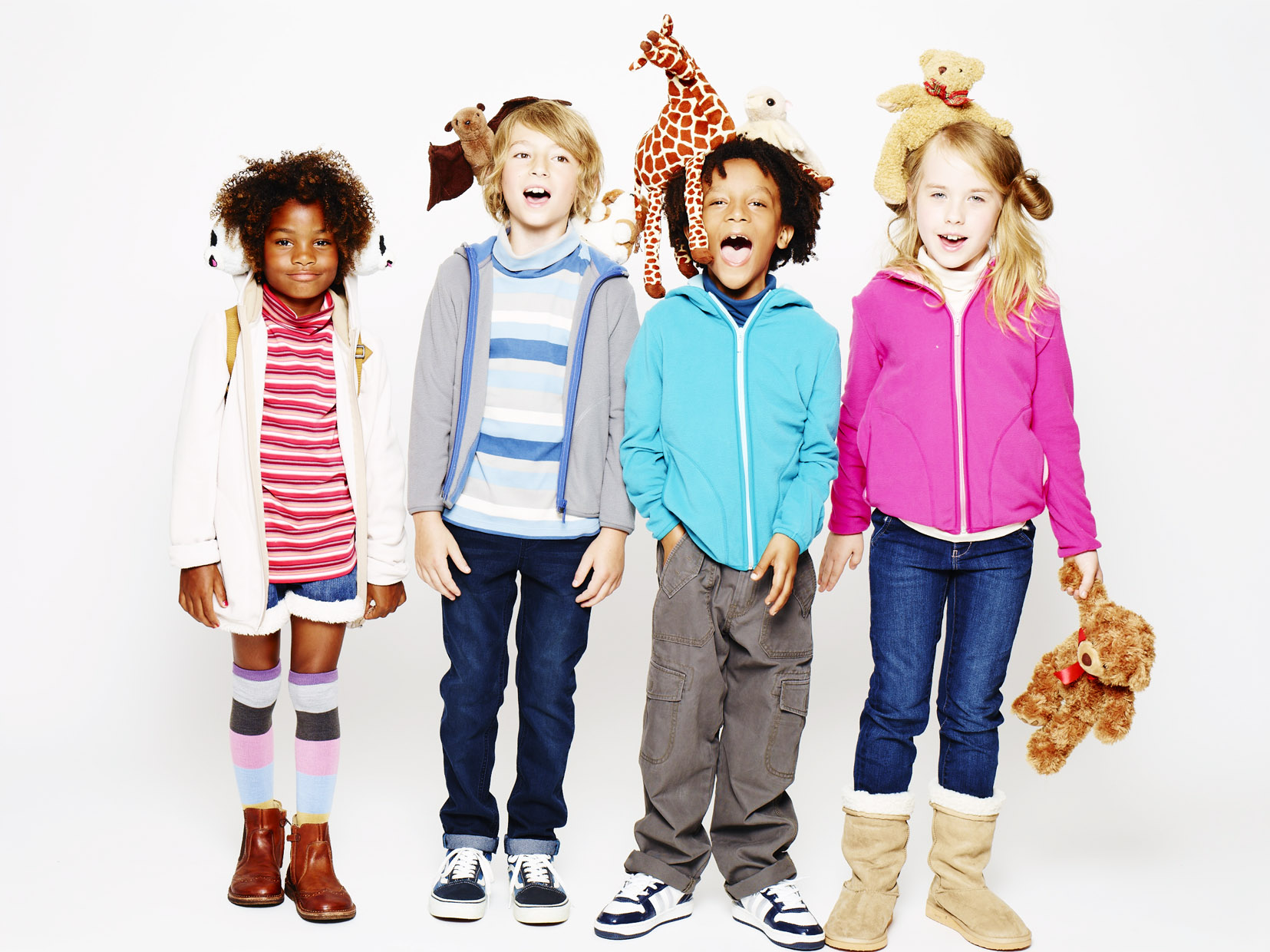 From baby clothes with adorable designs to girls' clothes in a variety of styles, there's something cute for all of your kids. Belk's selection of high quality kids' clothing is made with comfortable materials that last through jumping, running and wild adventures.