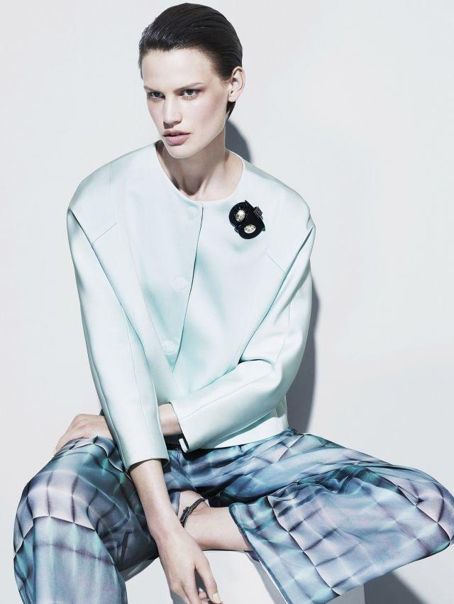 Saskia de Brauw photographed by Mert & Marcus for Giorgio Armani