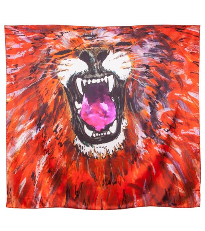Anna Katharine Lion Silk Scarf 2