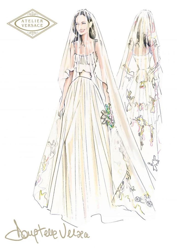 Angelina Jolie weds in Versace