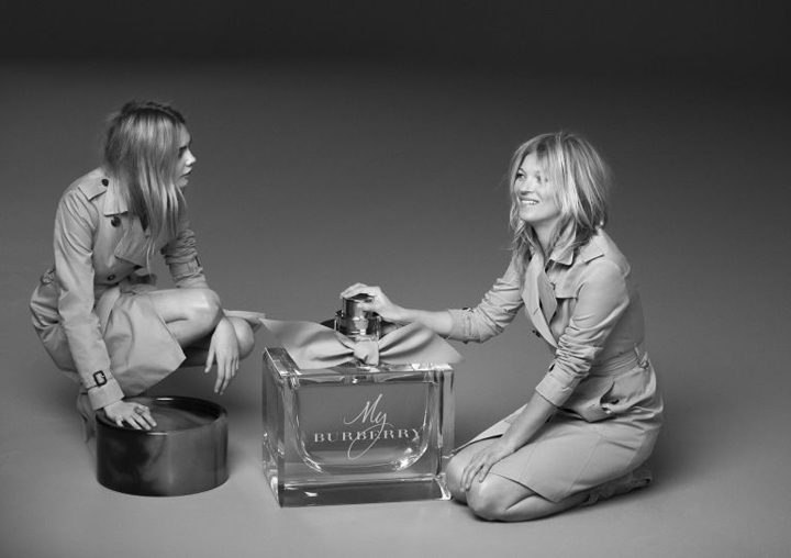 Kate and Cara star in new Burberry fragrance campaign
