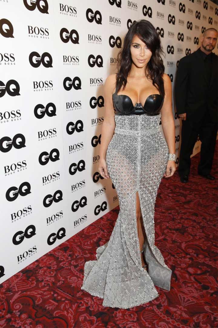 Kim Kardashian Wears Ralph & Russo to GQ Men of the Year Awards