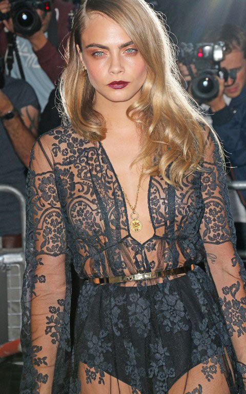 Cara Delevingne Had a Hell of a Party at the GQ Men of the Year Awards 2014
