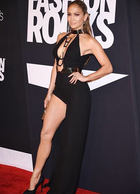 Jennifer Lopez Stuns at Fashion Rocks in Daring Black Jumpsuit