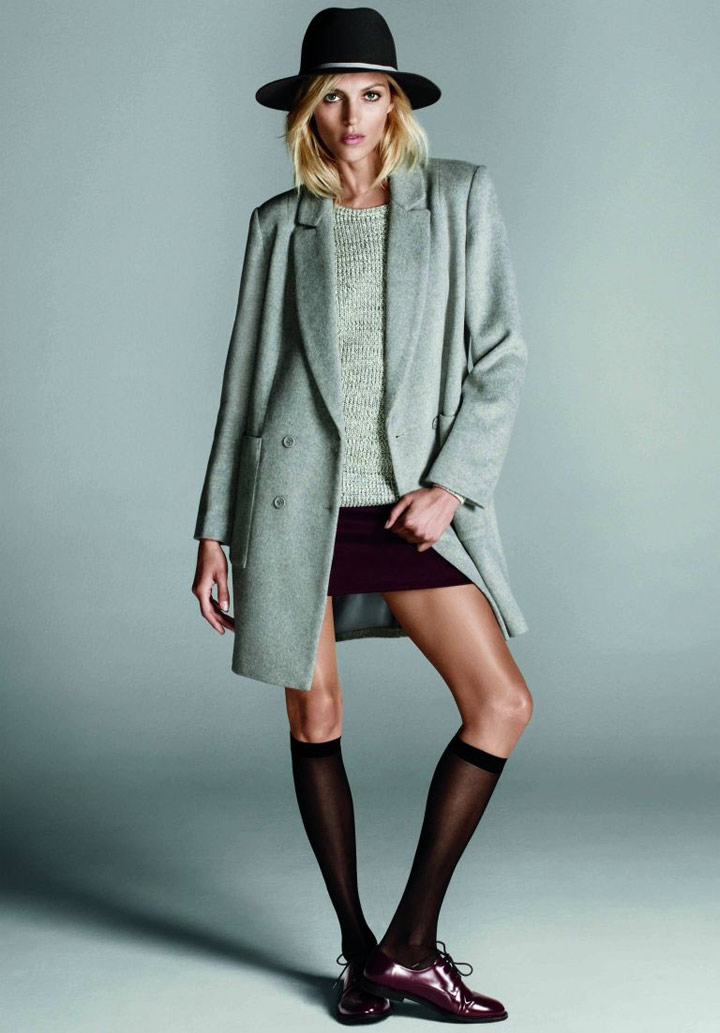 Anja Rubik in a fall mood for Forever 21