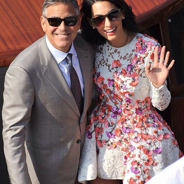 George Clooney and Amal Alamuddin Married in Venice!