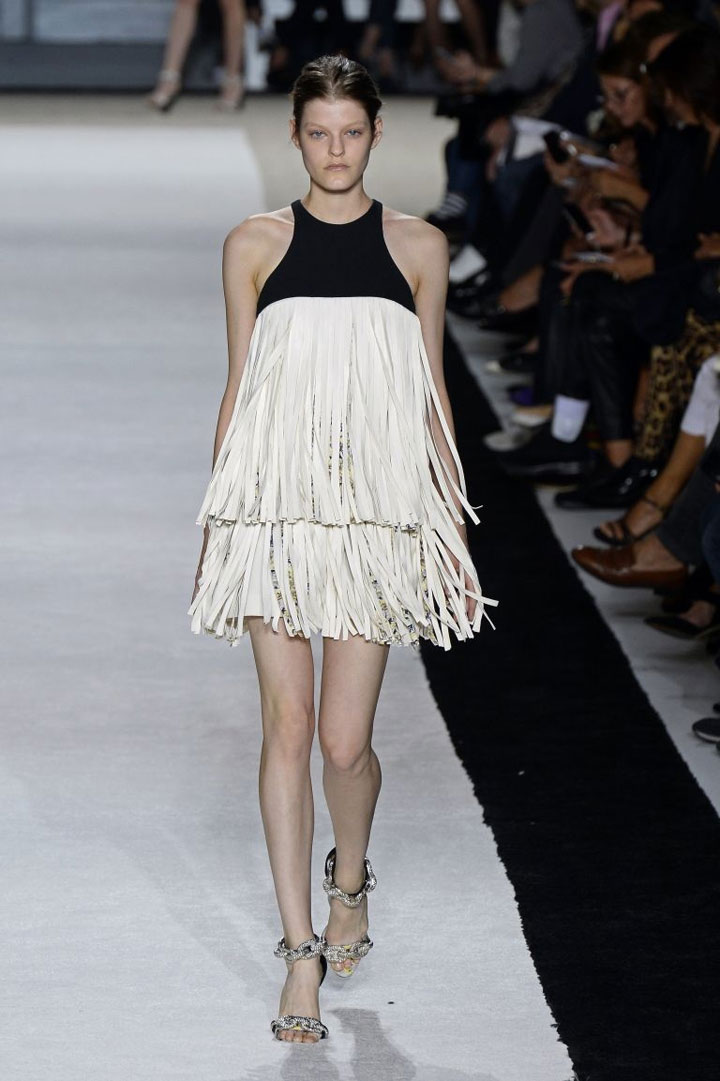 PFW: fringes and flowers at Giambattista Valli