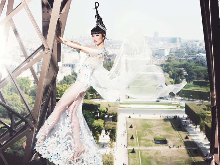 Jessica Minh Anh to Transform Eiffel Tower Into a Catwalk