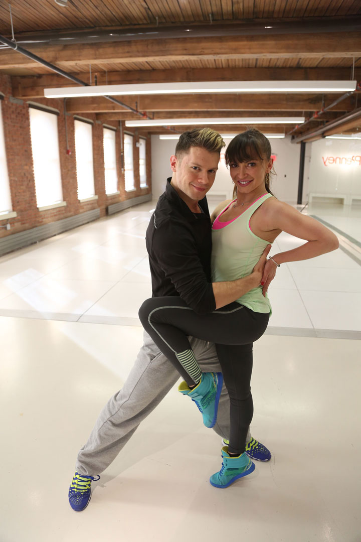 Henry Byalikov and Karina Smirnoff Dancing at JCPenney's New Year, New You Fitness Event in SoHo