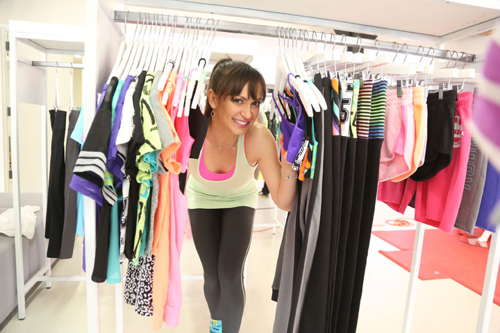 Karina Smirnoff shopping with CityStreet Activewear at JCPenney's New Year, New You Fitness Event in SoHo