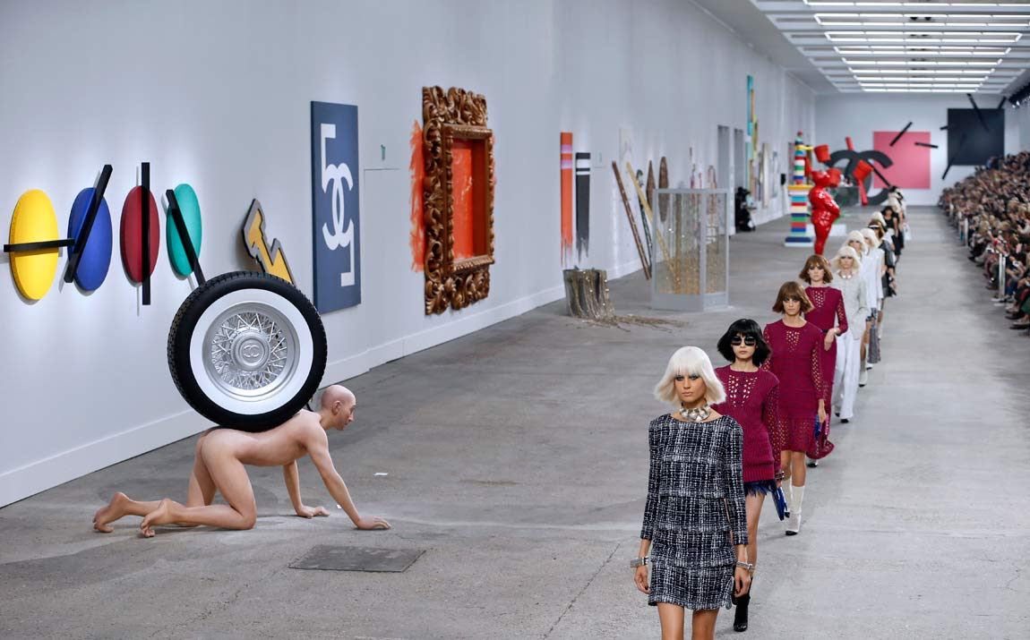 Chanel Fashion Show Spring Summer 2014 and fashion at Chanel show